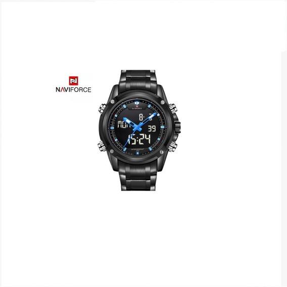 Relógio Masculino Naviforce Esportivo Preto Pont Ver Ou Azul