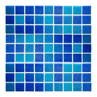 Mosaico Veneciano Azul Mezcla Sassari 2 X 2 Cm (2.14m²)
