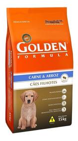 Ração Golden Carne E Arroz Cães Filhotes - 15 Kg