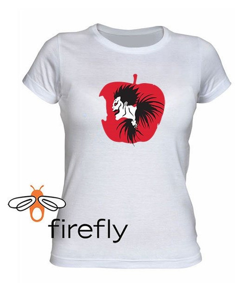 Remera Death Note Mujer Blanca Coleccion 2 Firefly