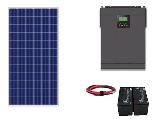 Imagen 1 de 8 de Kit Panel Solar Autonomo Isla 1000wh Diarios