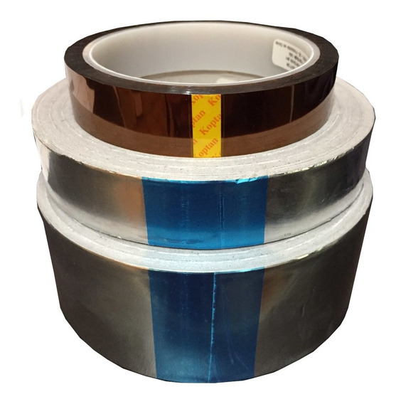 Fita Kapton Alumínio Alta Temperatura Reflow Reballing 3 Pçs
