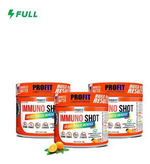 3x Immuno Shot Vit C + Vit D + Glutamina + Zinco - Profit