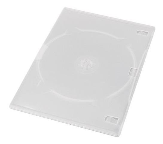 200 Capa Estojo Caixa Dvd Slim Amaray - Transparente