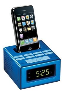 Radio Reloj Para iPod iPhone Azul Rc130ibl Rca