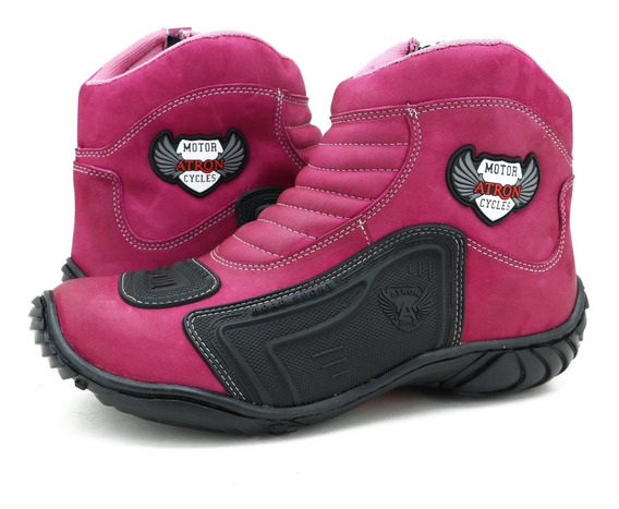 Bota Motociclista Atron Shoes 283 Lançamento Oferta