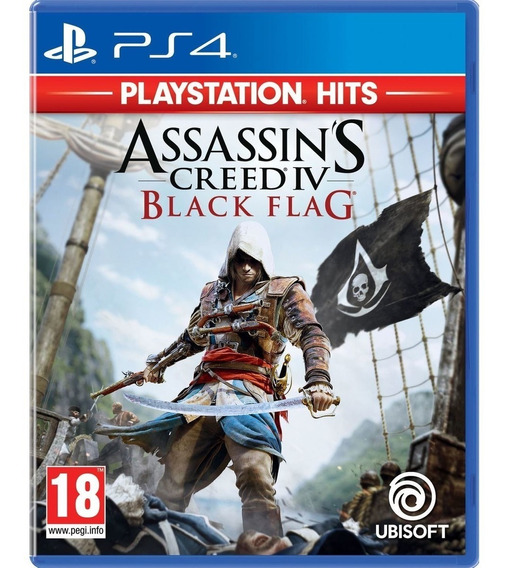Jogo Assassins Creed Iv 4 Black Flag Playstation 4 Ps4 Novo