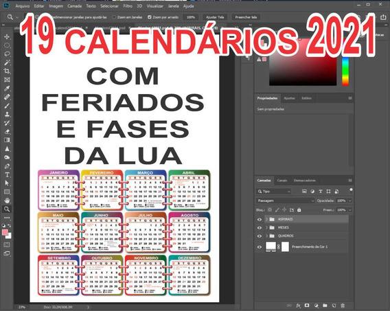 19 Arquivos Psd Calendários 2021 - Editável No Photoshop