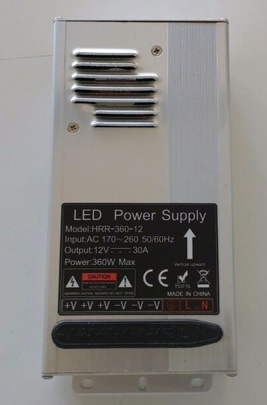 Fuente Switching 30a 12v Aluminio Apto Led Con Bornera