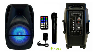 Parlante Portátil Karaoke Radio Fm + Bluetooth + Usb + Sd + Luces + Microfono Inalámbrico! Potencia! En Cuotas!