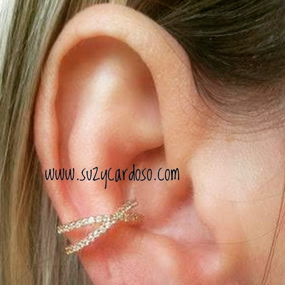 Piercing Falso Ouro 18k Diamante