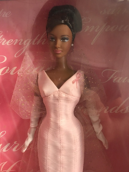 Boneca Barbie Collector Pink Ribbon Negra - Mattel K7813