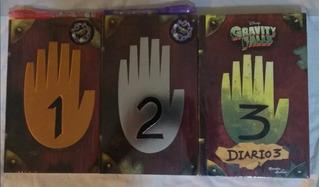 Diario 1 2 Y 3 Gravity Falls + Pluma + Lampara Uv Nuevos