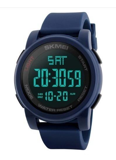Reloj Skmei Digital Militar Sport 50m 1257 Azul + Caja