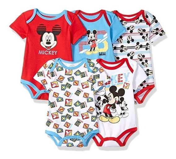 5 Bodys Mickey 12 Meses
