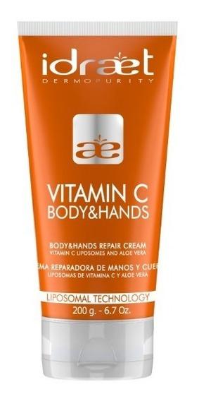 Vitamina C Crema Antioxidante Hidratacion P/ Cuerpo Y Manos