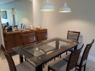 Conjunto Jantar Mesa E 6 Cadeiras Design Adorno