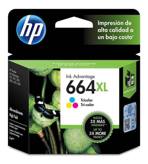 Cartucho De Tinta Hp 664xl Colorido - Original