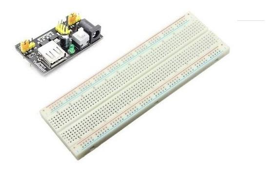 Protoboard 830 Pontos + Fonte Ajustável Mb102 - Arduino
