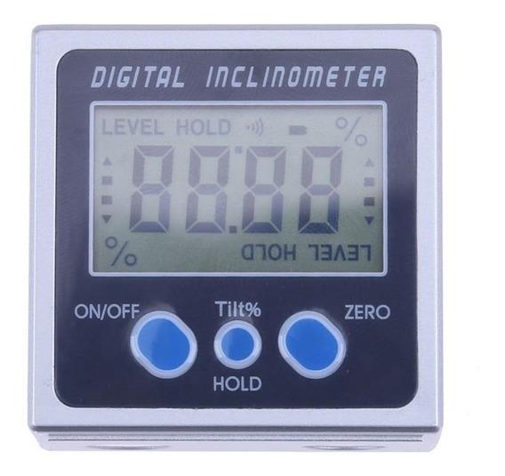 Inclinômetro Digital Metálico Medição Nível - Profissional