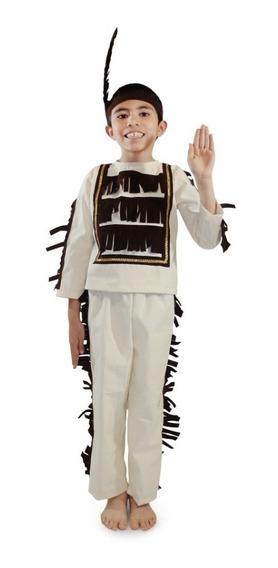 Disfraz De Indio Americano Niño Talla 2 A La 12