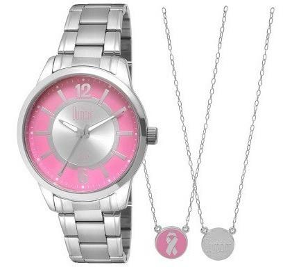 Relógio Feminino Fashion Prata / Rosa Dumont