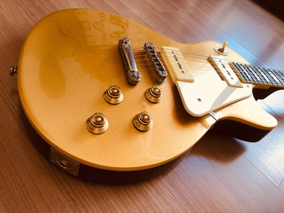 Guitarra Les Paul Tanglewood Gold Top Captação P90 + Case