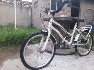 Bicicleta Rod. 24 Excelente Estado Rosa Perlado