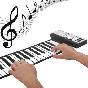 Piano Flexível Do Teclado Roll-up De Digital Midi Silicone 6