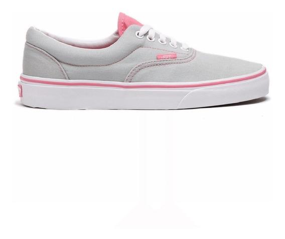 tenis vans gris con rosa Off 74%