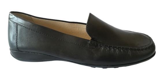 Zapatos Mocasin De Cuero Marca Geox Nro. 38 Nuevos