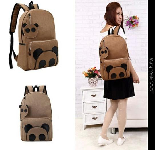 Mochila Panda Cute Kawaii Mujeres Niños Nueva Moda Hombre =d
