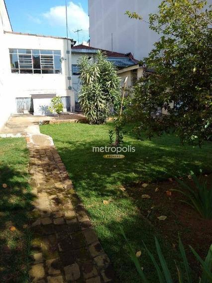Terreno À Venda, 400 M² Por R$ 740.000 - Santa Maria - São Caetano Do Sul/sp - Te0133