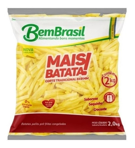 Imagem 1 de 2 de Batata Congelada Bem Brasil