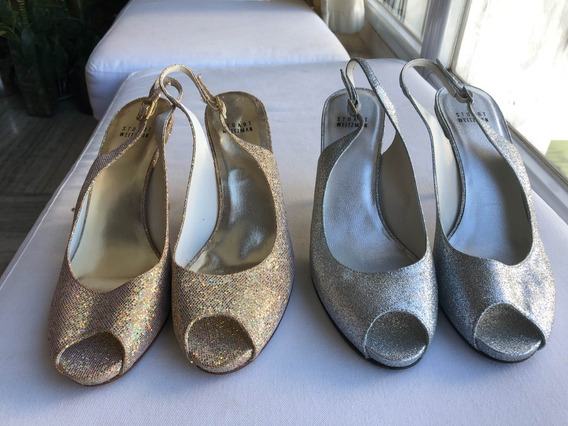 Zapatos Sandalias Stuart Weitzman Dorado Y Plateado 2x1
