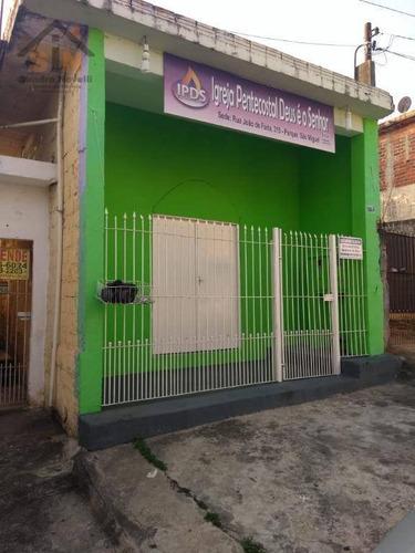 Salão E Casa À Venda, 140 M² Por R$ 259.900 - Jardim Álamo - Guarulhos/sp - Sl0008
