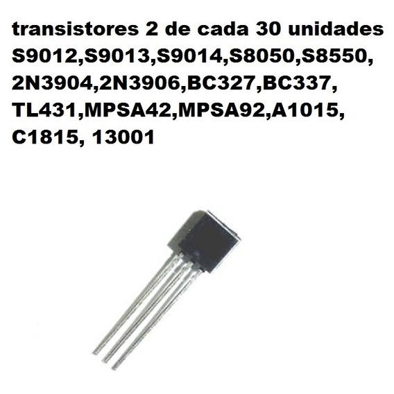 S9012,s8050,2n3904,bc327,tl431, Kit 30 Confira Os Modelos