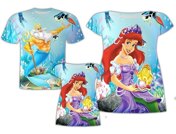 Blusa Pai + Vestido Mãe E Filha - Ariel Família