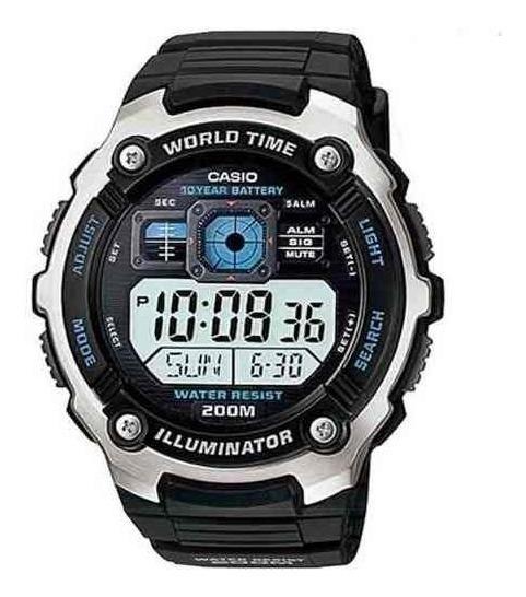 Relógio Casio Ae2000w-1a Horario Mundial 5 Alarmes Original