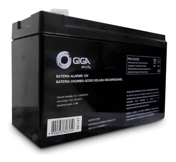 Bateria 12v Alarme E Cerca Elétrica Giga Security Gs0077 Tf