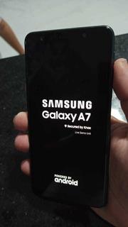 Celular Galaxy Samsung A7 2018 Live Demo Nao Pega Chip