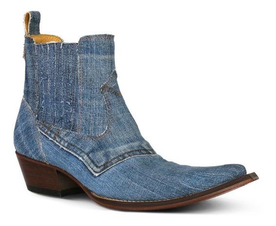 Butina Silverado Jeans Com Elástico Lateral De Salto
