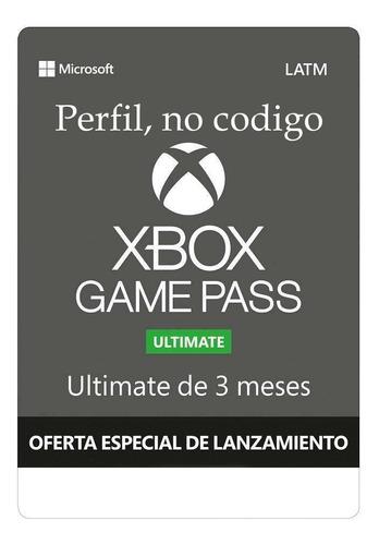 Xbox Game Pass Ultimate 3 Meses Entrega Inmediata