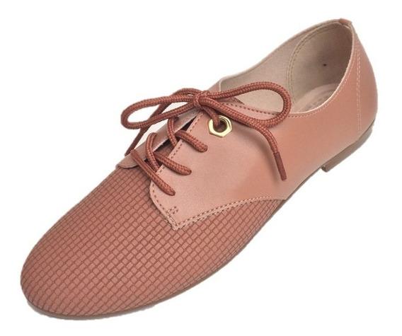 Oxford Feminino Sapato Beira Rio Camurça E Napa 3td1