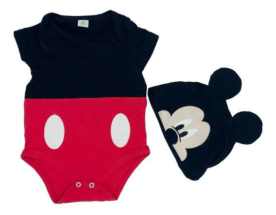 Pañalero Algodon Con Gorro Bordado Disney Mickey