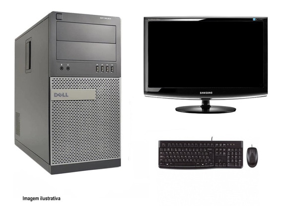 Computador Torre Dell 790 I5 4gb 320hd Monitor 18 Polegadas