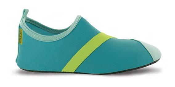 Zapatos Deportivos Acuaticos. Dama. Verde Aqua. Talla Med