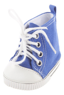 Zapatos Azules Clásicos De La Lona Para La Muñeca
