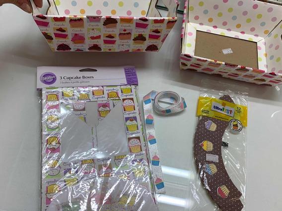 Kit Embalagens Para Cupcakes Decorativas
