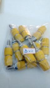 Borne B10 Amarelo 4mm Pacote C/ 10 Peças
